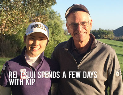 Rei Tsuji plays on the Japanese LPGA Tour and just spent 3 days with Kip on her game!