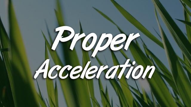 Proper Acceleration