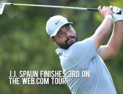 J.J. Spaun Finishes 3rd on he web.com tour